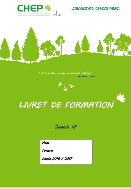 Livret Formation 2nde AP