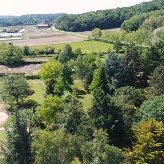 vue aérienne arboretum et jardin pedagogique