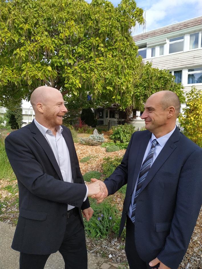 Cérémonie de passation : M. Amiot, nouveau directeur du CHEP depuis le 1er octobre 2019
