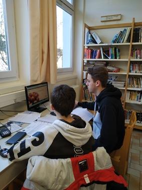 Travail en binôme, CAPa Aménagements Paysagers et Bac Pro Forêt/AP Lycée