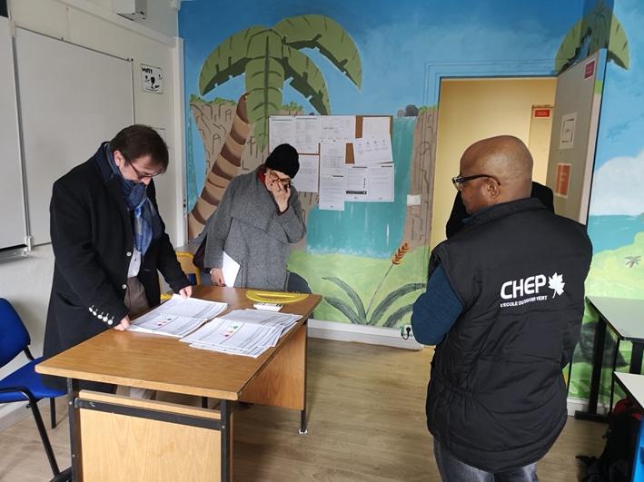 Visite de la DRIAAF sur le campus du CHEP
