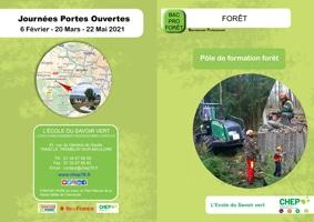 Plaquette Bac Pro Forêt en lycée