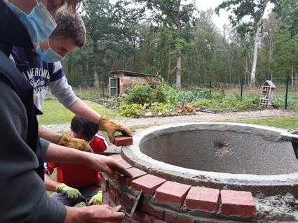 Habillage d'un puits pour les Bac Pro 1 AP lycée