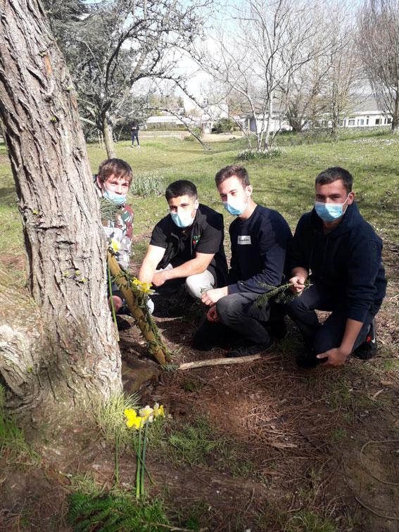 Les apprentis de BP 1 découvrent le Land art